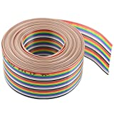 XINGYHENG 30Pin Wire Rainbow Color Flat Ribbon IDC Wire Cable(16ft/5m 30Wire)