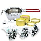 Kit de fabricación de Velas Herramienta, kit para hacer velas, kit velas, incluido 1 horno de fusión, 150 mecha para velas, 1 soporte, 2 latas de aluminio (R002)
