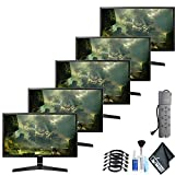 LG 27MP59G-P 27' 16:9 IPS Gaming Monitor (27MP59G-P) 5 Monitor Bundles Set with Surge Protector and Cleaning Kit