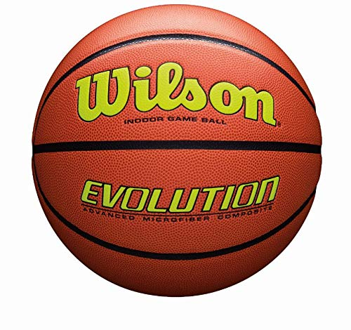 Wilson Sporting Goods Official, Size 29.5, Yellow Wilson Evolution Indoor Game Basketball