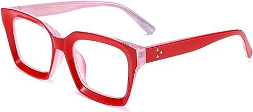 FEISEDY Classic Oprah Square Eyewear Non-prescription Thick Glasses Frame for Women B2461