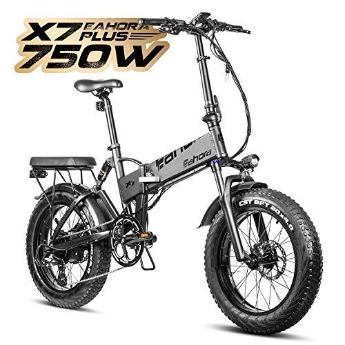 Eahora X7 Plus Folding Electric Bike 48V 750W 20 Inch Fat...