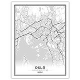 NBHHDH Leinwand Bild,Nordic Norwegen Oslo City Drucken