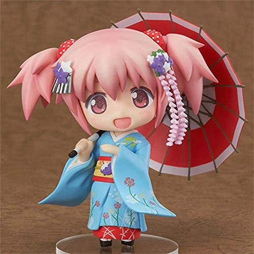 SXXYTCWL Action-Figur Puella Magi Madoka Magica Q Ausgabe Sakura Umbrella Kaname Madoka Kimono Animated Charakter-Modell-Dekoration Statue jianyou