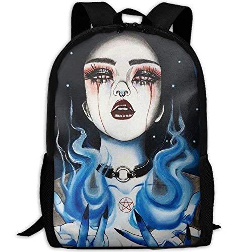 VNFDAS Gotik Gotik Gothic Damen Mädchen Art 3D Print Rucksack College Schule Laptop Tasche Daypack...