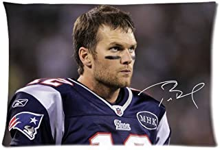 Green-Store Custom Tom Brady Home Decorative Pillowcase Pillow Case Cover 20*30 Two Sides Print