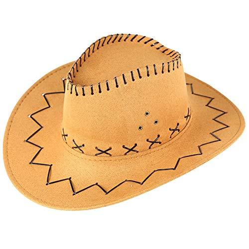 BAJSKD Frühling Und Sommer Baseballmütze Adult West Cowboy Solid Casual Hut Mongolischer Hut Grassland Sunshade Cap Frauen Summer Beach Travel Hat