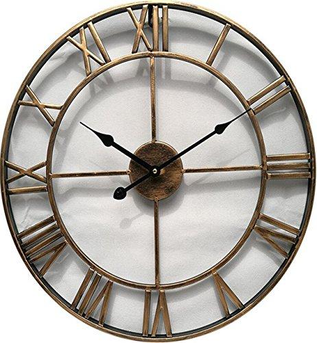 Sucastle® 47x5CM metal Reloj de Pared 3D con Números Adhesivos DIY Bricolaje Moderno Decoración Adorno para Hogar Habitación Reloj de pared silencioso Reloj de Pared de Cuarzo Estilo