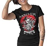 Camisetas La Colmena 1500-Mother of Dragons (S, Negro - Mujer)