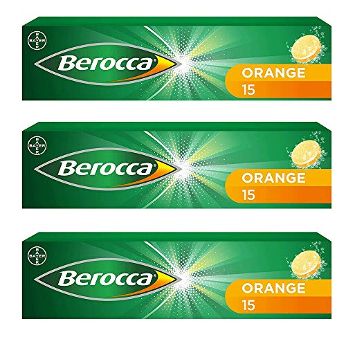 3 pack Berocca Performance 15 Orange Flavor bruistabletten Vitamine B C Calcium Magnesium & Zink Freeshipping