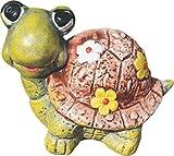 AnaParra Figura Decorativa de Tortuga 21cm. de hormigón-Piedra para jardín Color