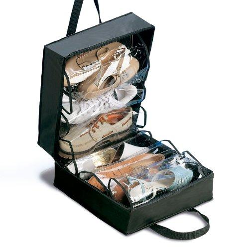 Rayen Maleta para Zapatos, 35x32x17, Negro, Madera, 35 x 32
