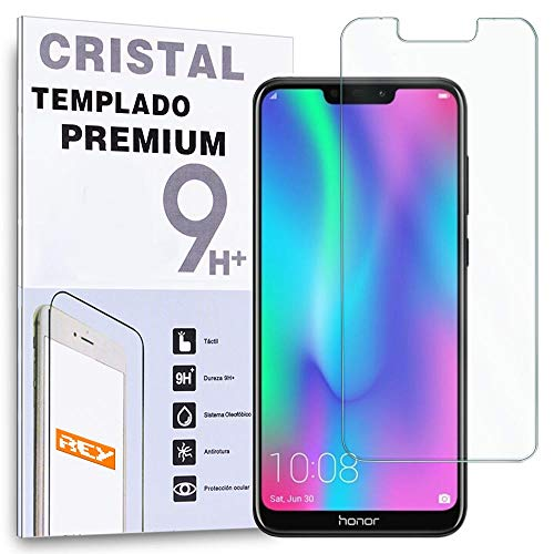 REY Protector de Pantalla para Huawei Honor 8C, Cristal Vidrio Templado Premium
