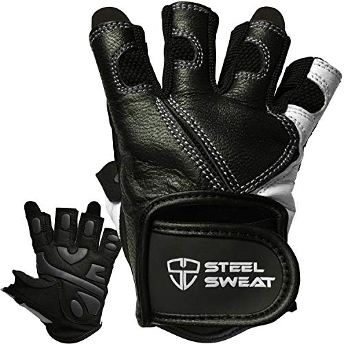 Steel Sweat Workout Gloves - Best for...