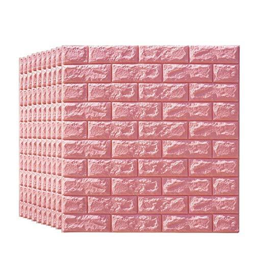 KUNYI Brick 3D Wandpaneele, schälen und Stick-Tapete for Wohnzimmer Schlafzimmer Hintergrund Wanddekoration (Size : 10 Pack)
