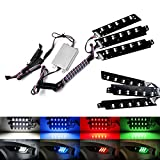 iJDMTOY RGBW Multicolor LED DRL Board Lighting Kit Compatible With 2015-2017 Ford Mustang, Smartphone Remote Controlled