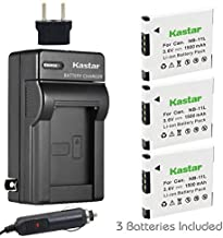 Kastar NB-11L Battery 3X and Charger for Canon ELPH 320 HS ELPH 340 HS ELPH 350 HS ELPH 360 HS, IXUS 125 HS IXUS 132 IXUS 135 IXUS 140 IXUS 145 IXUS 150 IXUS 155 IXUS 172 IXUS 175 IXUS 177 IXUS 180