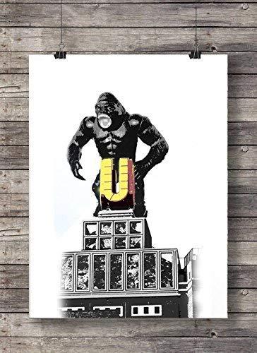 Print Wandbild Poster Dortmunder U King Kong Format A3