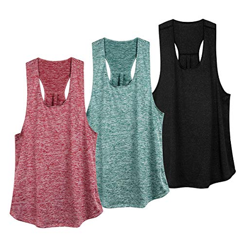 Workout Tank Tops for Women Athletic Yoga Racerback Top Quick Dry Running Sleeveless Shirts
