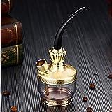 Sooiy Cigarrillo de Tabaco Pipa de Agua/Agua de tuberías de Agua Dos Fumar,Oro