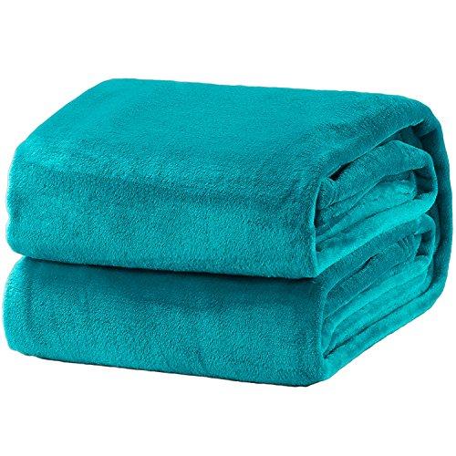 Bedsure Fleece Blanket Twin Size Teal Lightweight Blanket Super Soft Cozy Microfiber Blanket