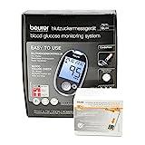 Beurer Blutzucker Messgerät GL 44 mg/dl black inkl. 50 Blutzucker Teststreifen