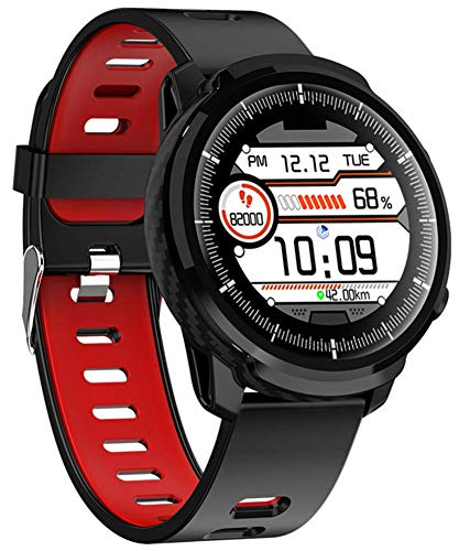 DSY Smart Watch Fitness Tracker Smartwatch Pulsera Actividad Fitness Tracker Smartwatch Bandas Monitor de Ritmo Cardíaco 1.3 Pulgadas Pantalla Táctil Completa Ip67 Impermeable, Rojo Co