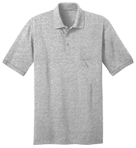 Port & Company hommes Confortable Knit poche Polo à manches courtes, Hommes, Cendre