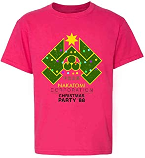 Pop Threads Nakatomi Plaza 1988 Christmas Party Costume Youth Kids Girl Boy T-Shirt