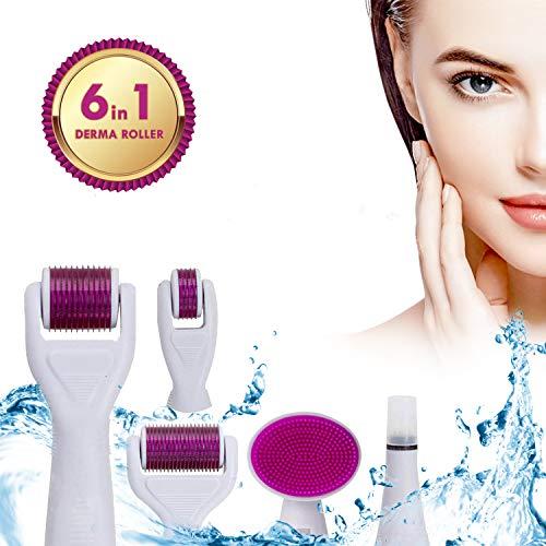 Derma Roller Viso Corpo Micro Aghi Titanio 2° Generazione Kit System Skin Care Antirughe Anticellulite Anti Invecchiamento Naso Labbra Perdita Capelli Uomo Donna Idea Regalo.