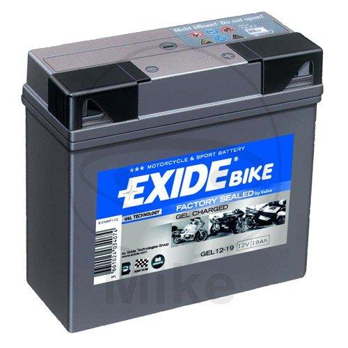 Exide batteria gel moto 519901 exide, riempito e caricato