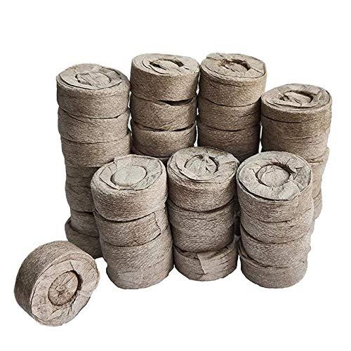 Komprimierte Peat Pellet Faserboden Pflanzensammen Starters, Stecker Pallet Sämling Torfballe, Samen Dünger Nährstoffblock Druck Torf-Block für Grow-Kräuter, Pflanzen, Blumen und Gemüse