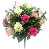 Bouquet de fleurs artificielles–Chrysanthèmes - 41cm Pink & Cream