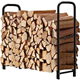 Amagabeli Rack di legna da ardere 1,2 m di lunghezza Camino Log Rack Log Holder all'aperto per legna da ardere Robusto Impilatore di legno Scaffale per legna da ardere Porta legna da ardere