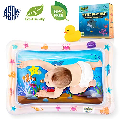 Inflatable Water Play Mat for Tummy Time, Baby water mat Infants & Toddlers Toys for Infant Early Development baby toys 3 6 9 Months, Newborn Boy Girl Activity Center Baby's Stimulation Growth