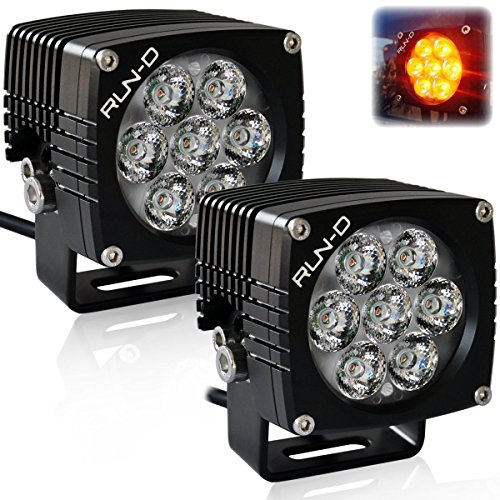 RUN-D Amber Cube Led Driving Lights 3 inch CREE Off Road Lights (Amber LED) - 1 Pair