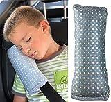 HECKBO Cojín para cinturón de seguridad con diseño de estrellas, acolchado para niños, lavable a máquina, suave al tacto, protector de cinturón de seguridad, 30x12cm