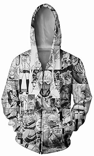 My Hero Academia 3D Print Long Sleeve Casual Novelty Cosplay Hooded Tops Toga Himiko Manga Anime Hero Full Zip Hoodies Jacket for Womens Gilrs