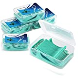 Hilo Dental 300 Piezas, Palillos de Hilo Dental Plástico, Hilo Dental Menta Fresca para Interdental Oral Limpieza - Floss Sticks - 60pcs / Paquete