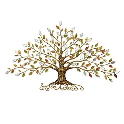 Decoración De Pared Tapices De Pared De Hierro Forjado Tridimensional Colgante De Pared Buena Suerte árbol Decoración De La Pared Accesorios Para El Hogar,B