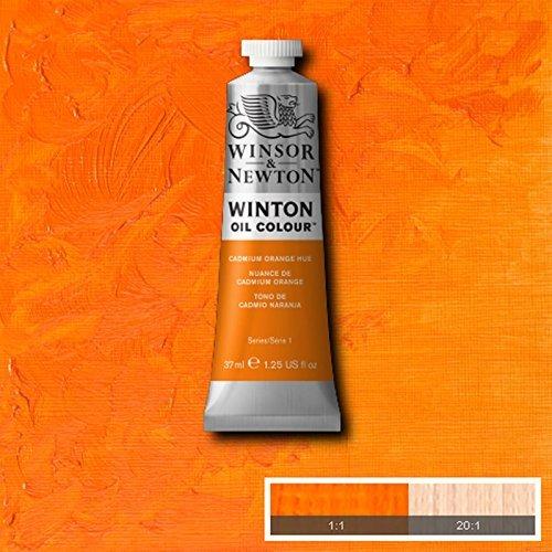 Winsor & Newton Winton Oil Paint Tube Artist Art 37ml & 200ml ALL COLOURS (Cadmium Orange Hue, 37ml)