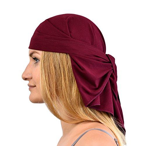 Jasmine Silk Bandana unisex de bambú – Adecuado para quimio y pérdida de cabello – Cardani Chemo Cancer Hat