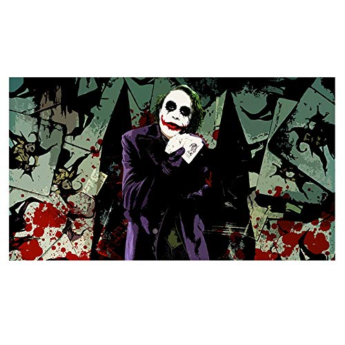 KWzEQ Filmstar Clown Wandkunst Wandkunst Poster und Drucke auf Leinwand,Rahmenlose Malerei,30X45cm
