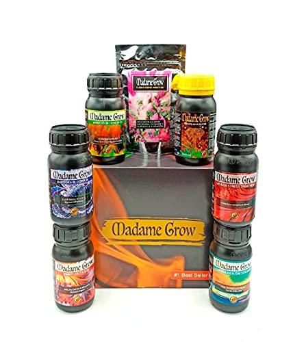 MADAME GROW ⭐️⭐️⭐️⭐️⭐️ KIT Premium 7 Pack Folgen Sie dem gesamten Sortiment der besten Bio-Produkte für den gesamten Zyklus Ihrer Marihuana Cannabis Pflanze Sparen Sie mehr als 40{b97c2bbe334b8077b504f5150ee211a46dffe076fdd6f54c49fb0d5a515f747e}