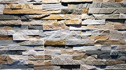 Wandverblender Riemchen Klinker Wandverkleidung Naturstein für Kamin, Wand, Innen- und Außenbereich