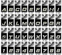 ジュエリー エンブレム アルファベットと数字の36文字から選べます (W) B-623