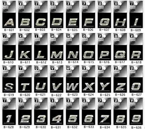 ジュエリー エンブレム アルファベットと数字の36文字から選べます (M) B-613