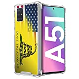 CasesOnDeck Fitted Case Compatible with [Samsung Galaxy A51 / A51 4G Case] Shock Absorption Bumper Cover Soft TPU Bumper Edges(Dont Tread On Me)