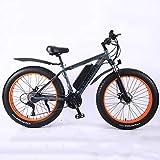BWJL Accionada MTB batería de Litio eléctrica de la Bicicleta con la Iones de Litio de 26'350W 36V 13Ah extraíble mag Ebikes montaña Montaña E-Bici para los Hombres,Gris,10AH