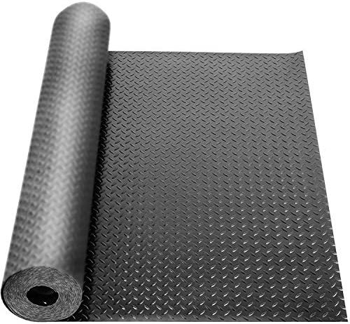 tonchean Garage Floor Rubber Mat 3mm Thickness Heavy Duty Diamond Plate Rubber Mat Non Slip product image